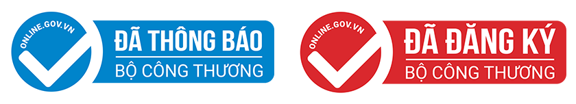 Logo mẫu khi website được Bộ Công Thương cấp